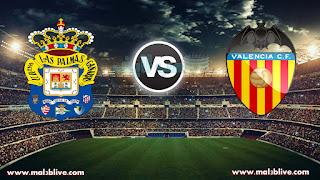 مشاهدة مباراة فالنسيا ولاس بالماس Las Palmas Vs Valencia بث مباشر بتاريخ 20-01-2018 الدوري الاسباني