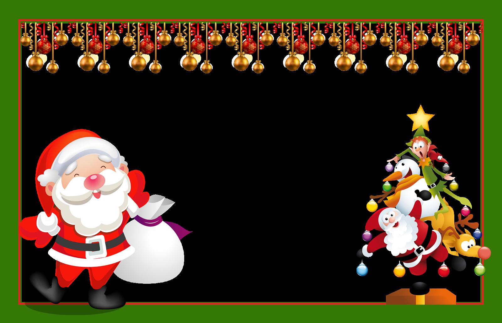 Cart 213 Es De Natal E Molduras De Natal Em Png Convites