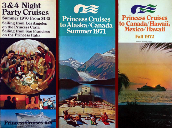 Princess Cruises brochures 1970/1971/1972