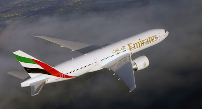 Source: Emirates. Plane in Emirates livery.