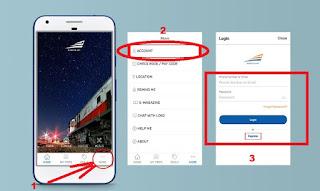 tatacara memesan tiket kereta api online