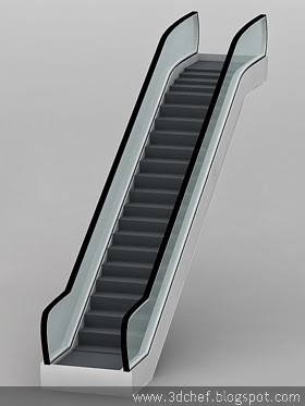 free 3d model escalator