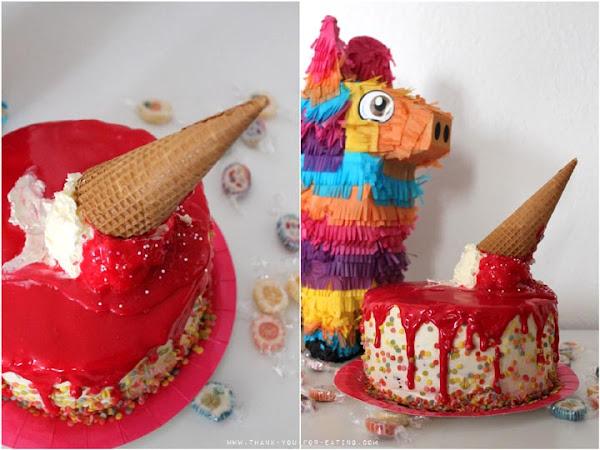 """""""Fake"""" Eiscreme-Torte — Ich bring dich zum Schmelzen!"""