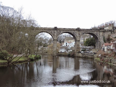 Viaduct and riverside Knaresborough