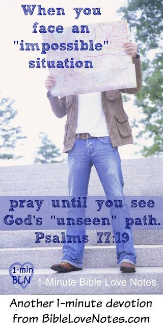 God's Unseen Footprints - Psalm 77:19