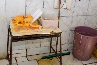 Sujeira e corante: frango colorido artificialmente é vendido como galinha caipira em Roraima