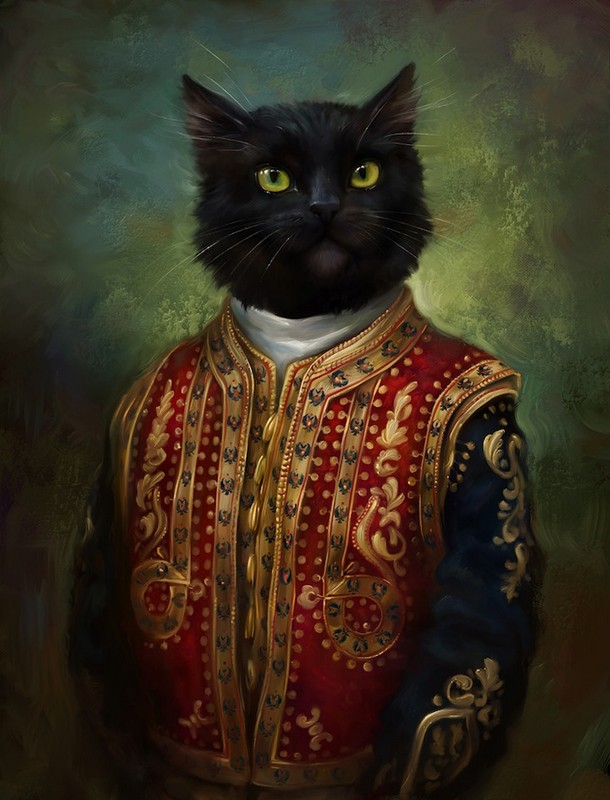 cats in royal dress