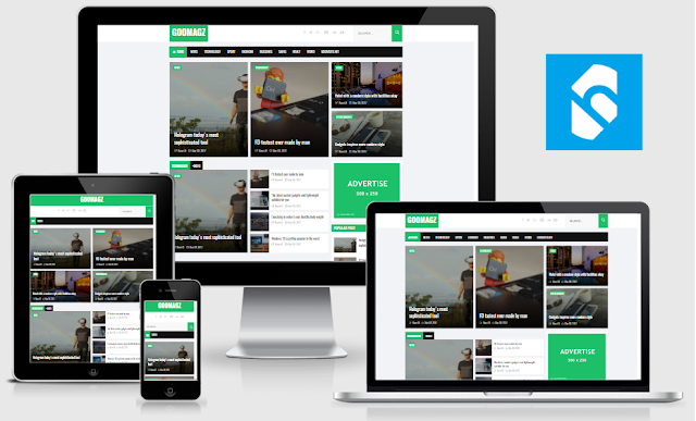 GooMagz Responsive Blogger Template Free Download