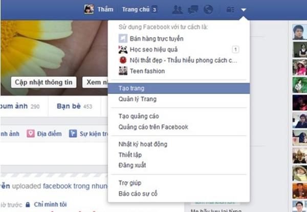 Nhan tao trang de thiet lap fanpage