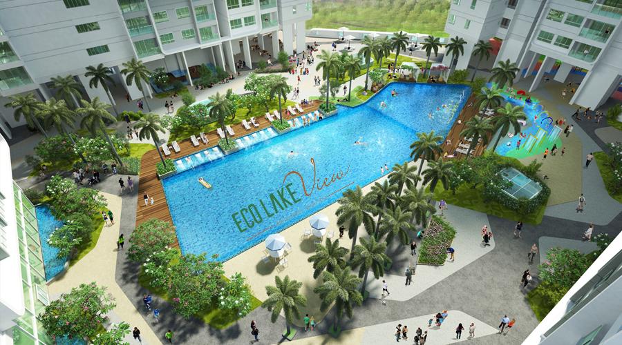 bể bơi chung cư eco lake view 32 đại từ