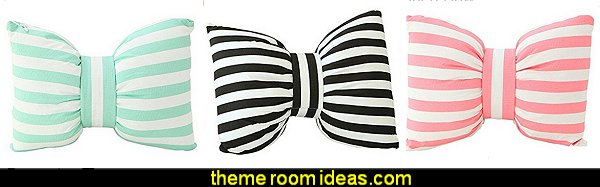 Striped Bow pillows