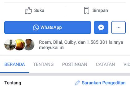 Cara Pasang Tombol Whatsapp di Facebook Fanspage