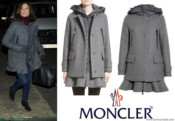 Crown Princess Mary wore Moncler Phemia Puffer Vest