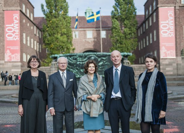 King Carl Gustaf and Queen Silvia attended the several events of centenary anniversary of opening of KTH Campus
