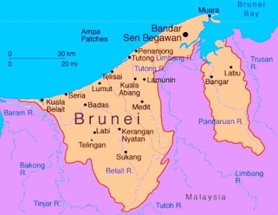 Peta Brunei Darussalam Lengkap