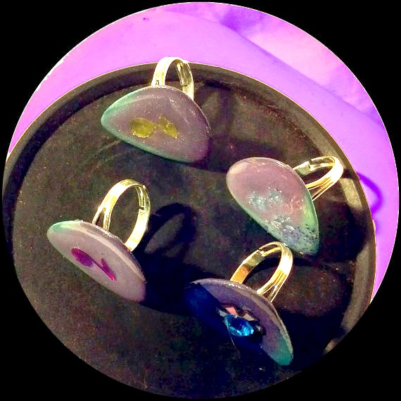 Color CHANGING Guitar Pick Rings