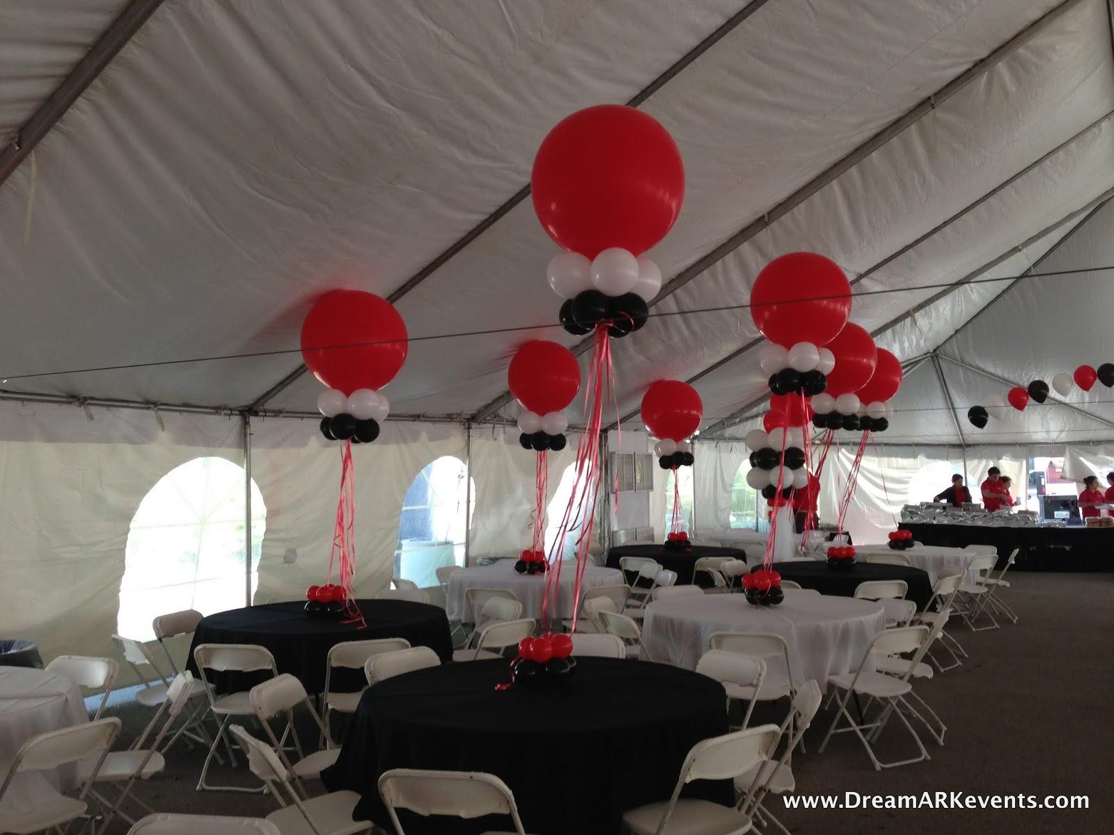DreamARK Events Blog: Tent balloon decoration.