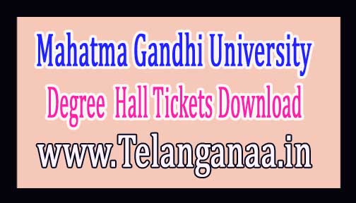 Mahatma Gandhi University MGU Degree 1st Sem Exam Hall Tickets Download