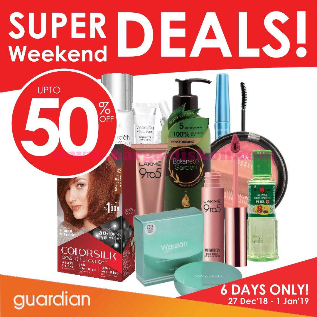 Promo Guardian Super Weekend Deals 27 Desember 2018 1 Januari 2019