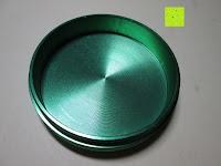 Auffangbehälter: DCOU tabak schleifer Alu tobacco grinder tabak spice herb pollen anlage gras mühle 4 schichten aluminium crusher - Ø55mm H48mm grün