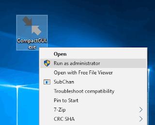 Pada postingan ini kami akan menjelaskan  Cara Kompres Program yang Terinstal Pada Windows 10 Untuk Menghemat Ruang Disk