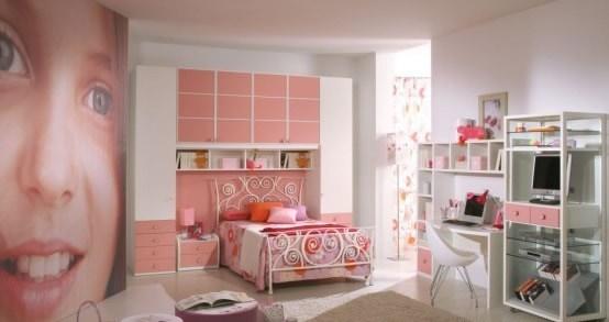 Habitaciones color rosa para ni as dormitorios colores y - Muebles para cuarto de nina ...