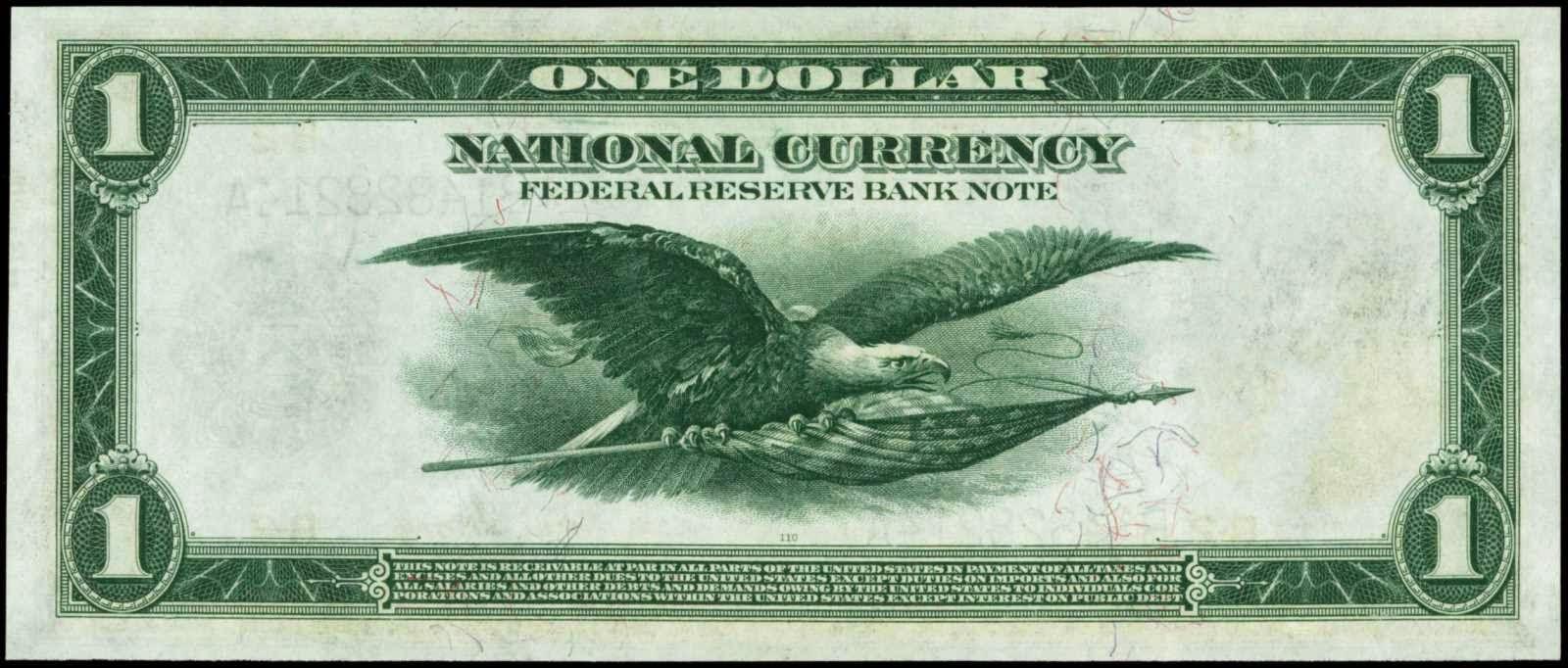 US dollar bill Flying Eagle