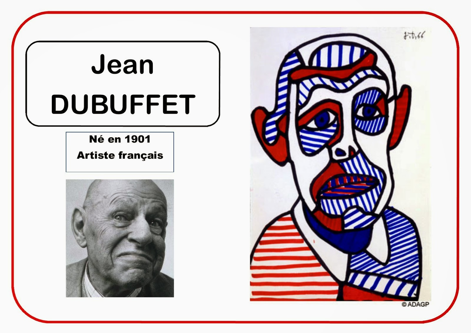 Jean Dubuffet - Portrait d'artiste en MS