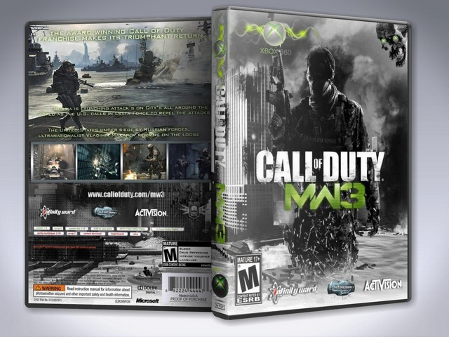 Capa Call Of Duty Modern Warfare 3 Xbox 360