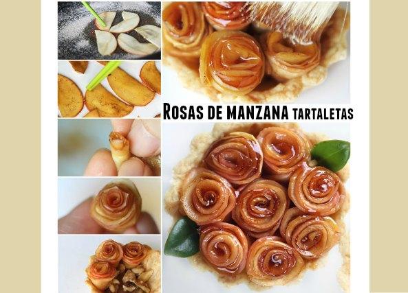 Rosas de manzanas como hacerlas