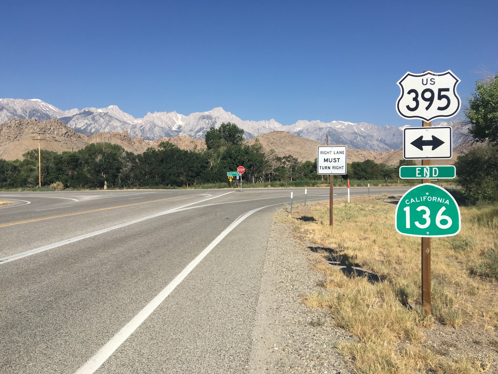 after leaving mammoth i headed south on us route 395 out in the mojave desert of inyo county i took a turn on california state route 136