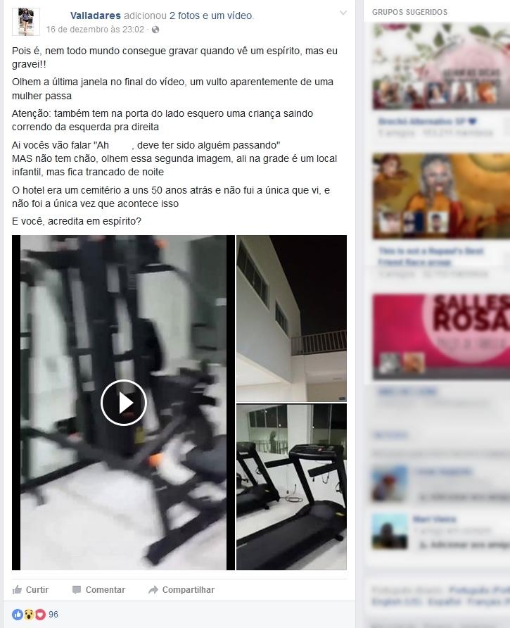 26b854f8c13fd Algumas horas após gravar o vídeo