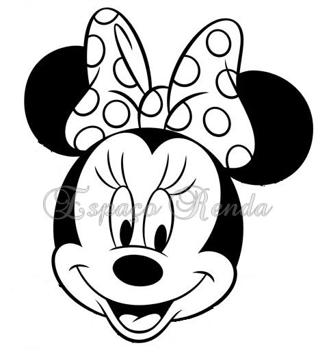 Patron Cara Minnie Mouse Imagui