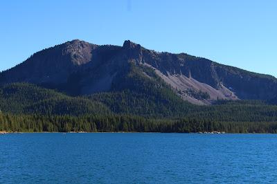 Paulina Peak from the shore of Paulina Lake