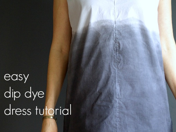 easy dip dye dress tutorial || This Little Miggy Stayed Home