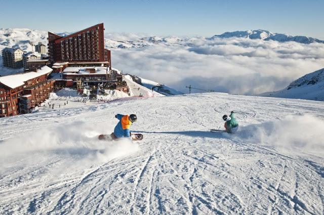 Esquiar no Inverno em Santiago do Chile