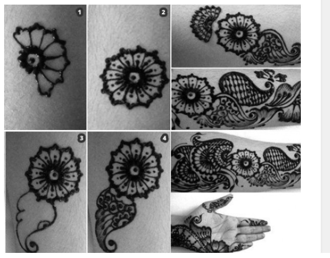 Mehndi Flowers Step By Step : How to apply henna designs mehndi step by tutorial