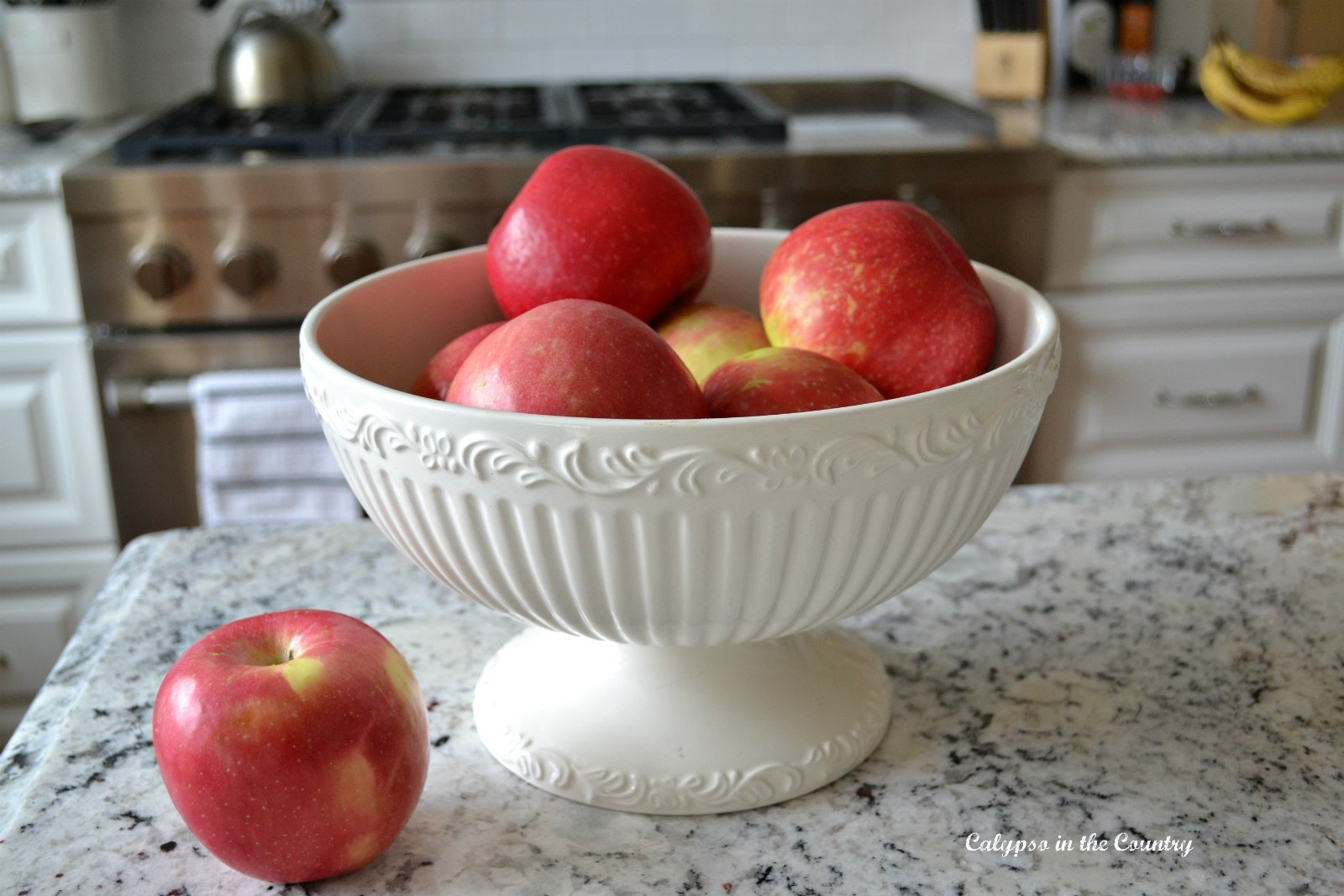 Decorating with Red Apples for Fall