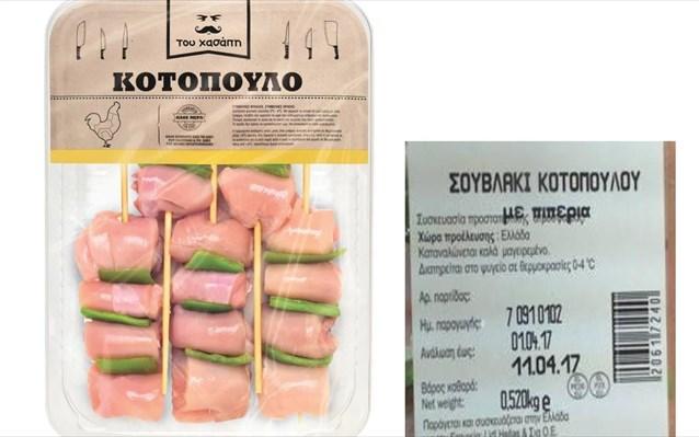 Ανάκληση από τον ΕΦΕΤ μη ασφαλούς τροφίμου «Σουβλάκι κοτόπουλου με πιπεριά» που διακινείται από τα LIDL