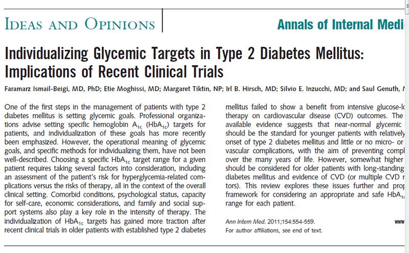 objetivo bp en diabetes mellitus