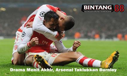 Drama Menit Akhir, Arsenal Taklukkan Burnley