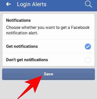 Facebook login notification alert start kaise kare 4