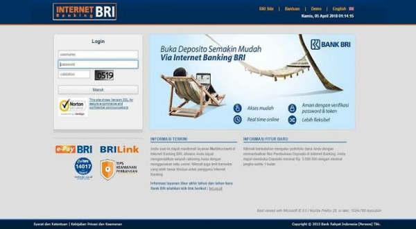 Limit Transfer Antar Bank BRI Internet Banking