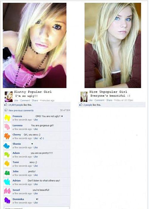 popular girl vs. nice girl