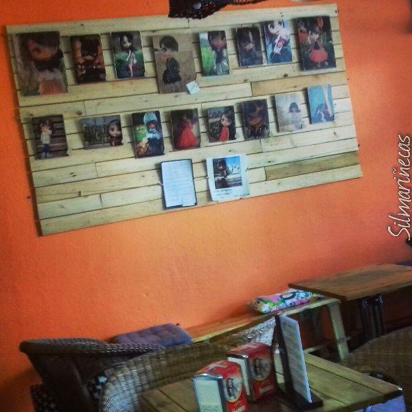 exposición de transferencias de imagen a madera de Caty