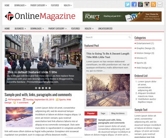 Online Magazine - Simple News Blogger Template