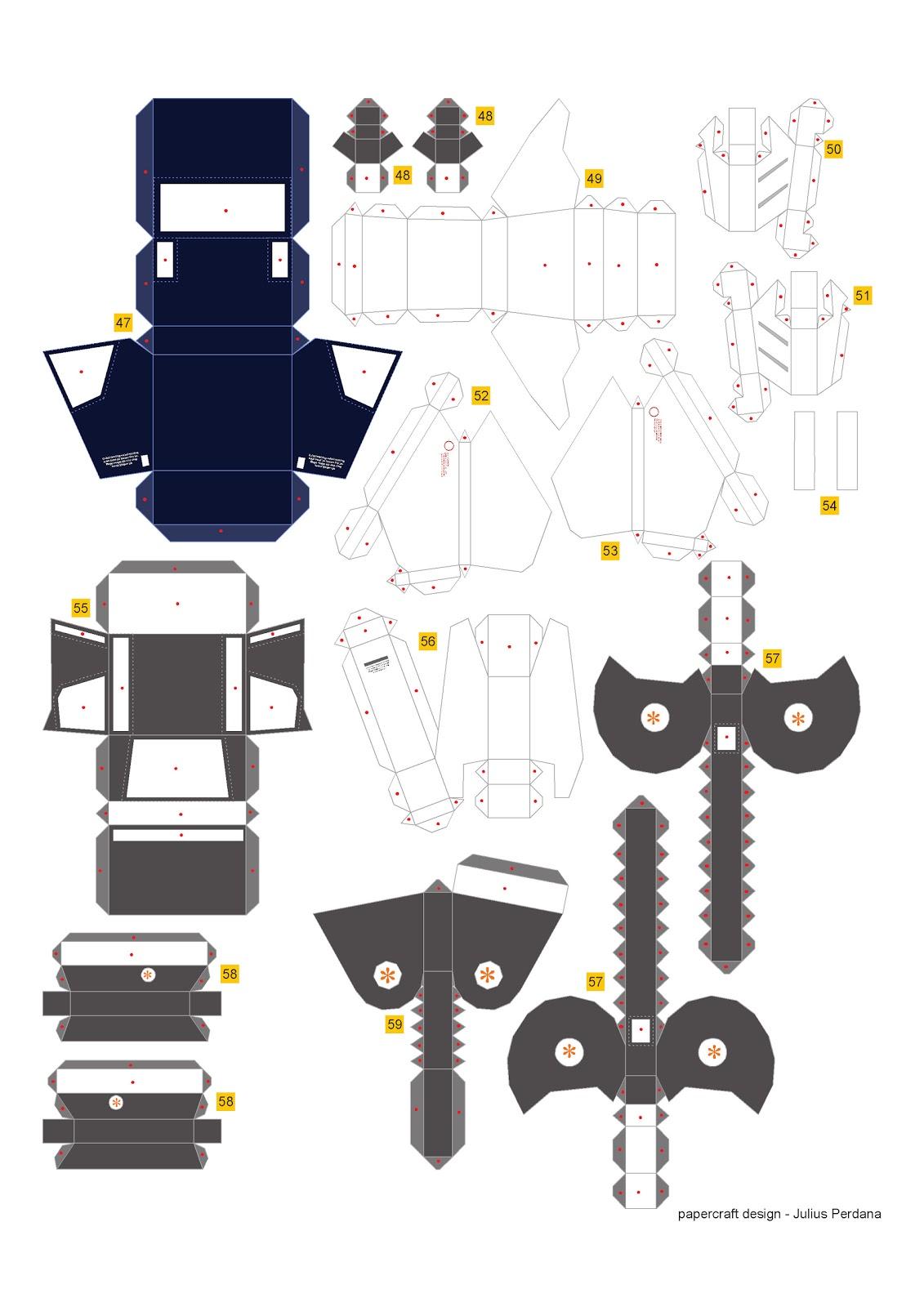 Geek S Republic Unicorn Gundam By Paper Replika Part 4 Leg