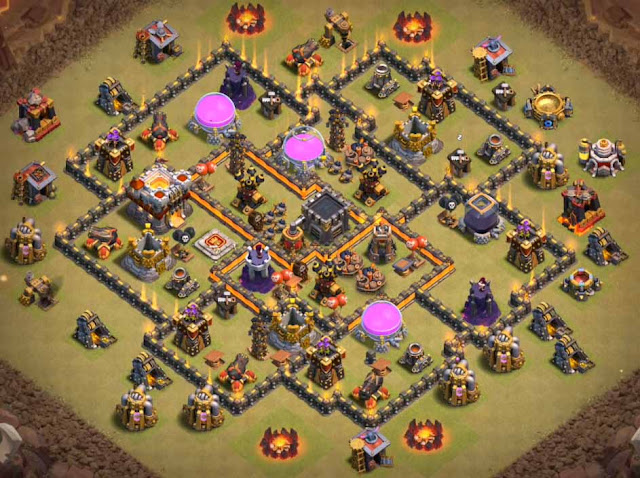 clash of clans town hall 8 war base anti gowipe