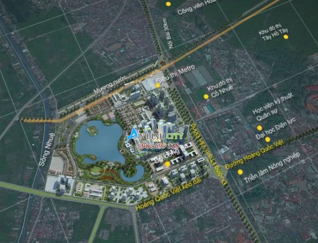 Ví trí chung cư An Bình City Thành Phố Giao Lưu