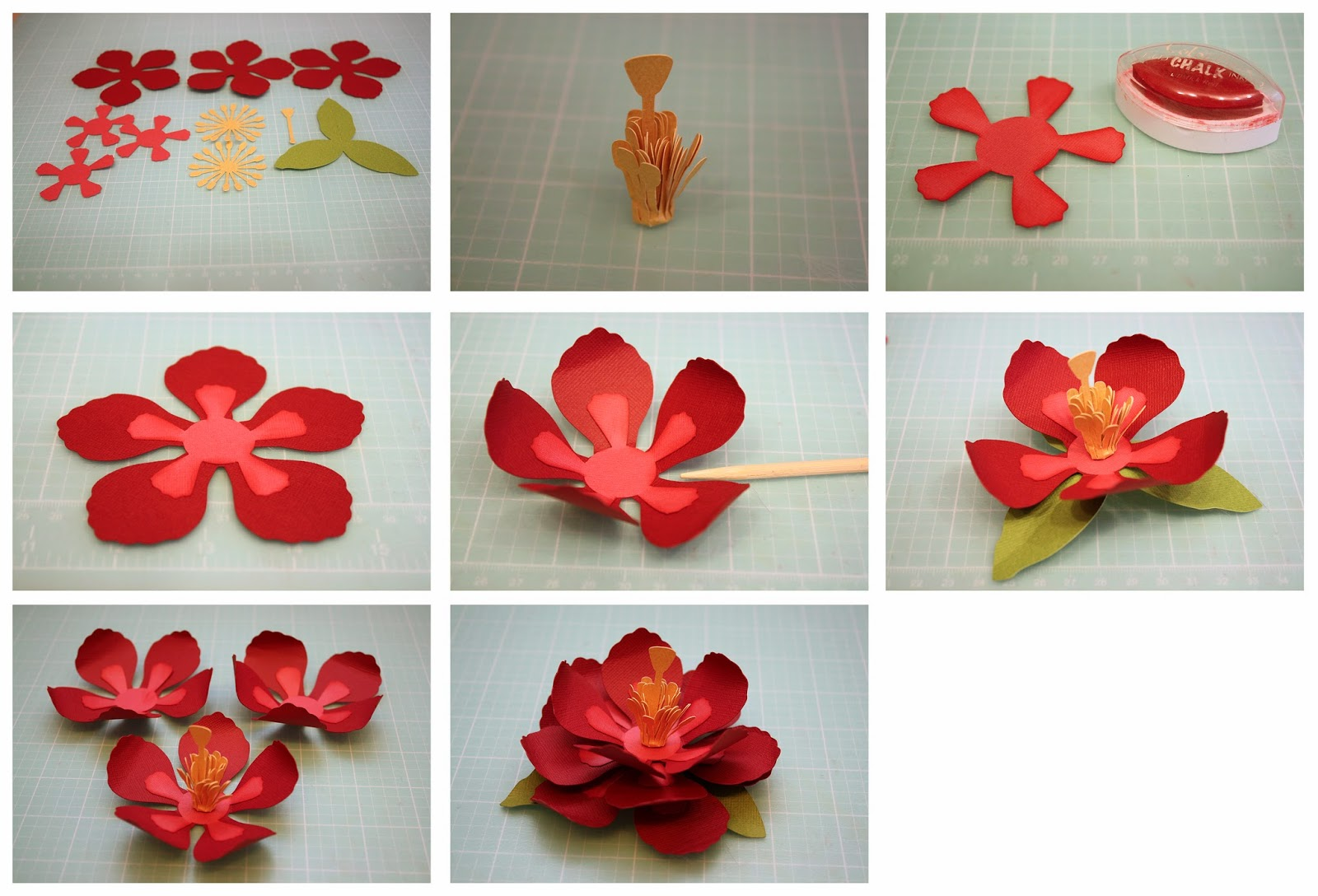 how to make flowers out of foam